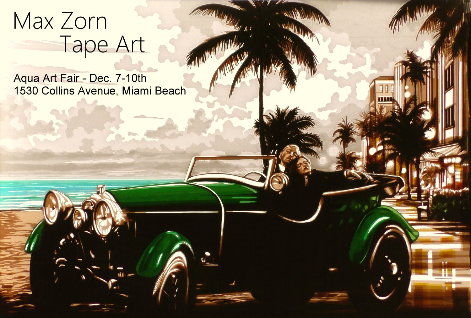 Miami Art Basel tape art Max Zorn