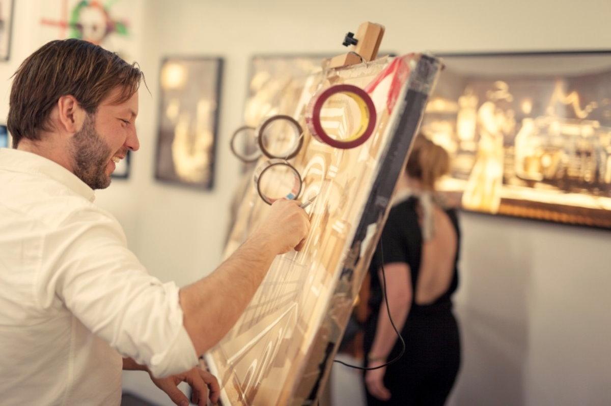 Max Zorn during Art Basel Miami