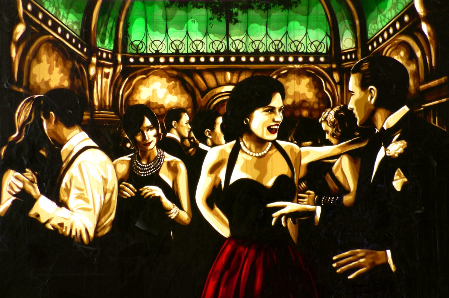 Contemporary artwork created by Max Zorn in Great Gatsby style