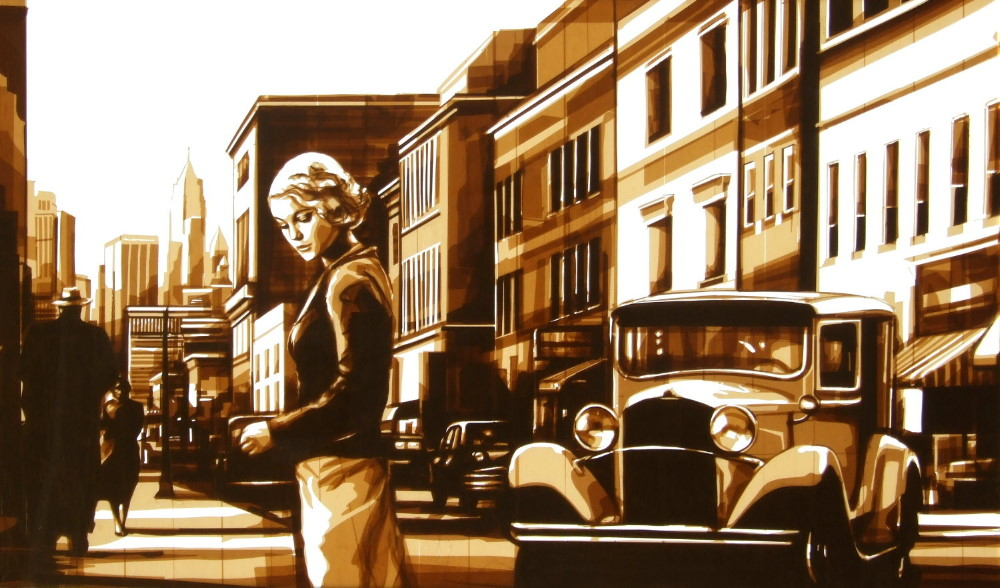 Tape art by Max Zorn - City Serenades II