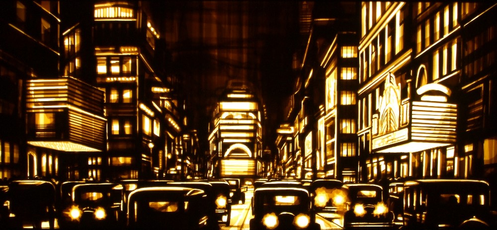 Tape art by Max Zorn - Downtown
