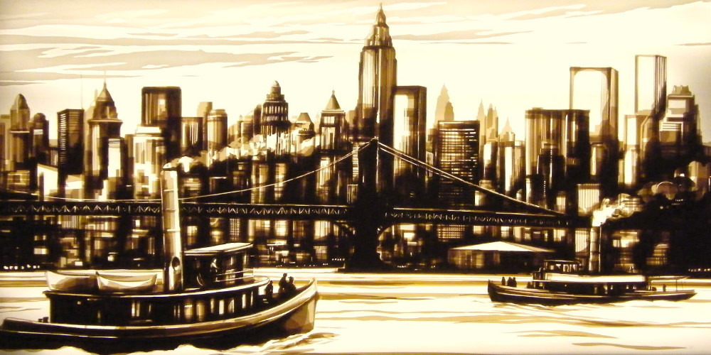 Tape art by Max Zorn - Old Days
