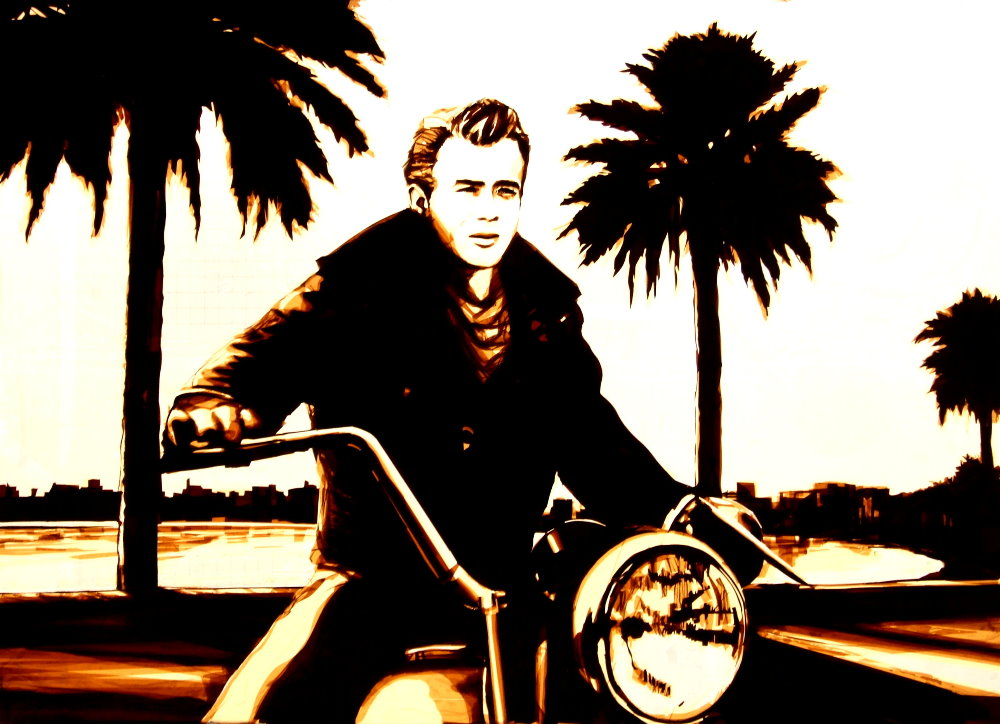 Max Zorn - Tape Art - James Dean