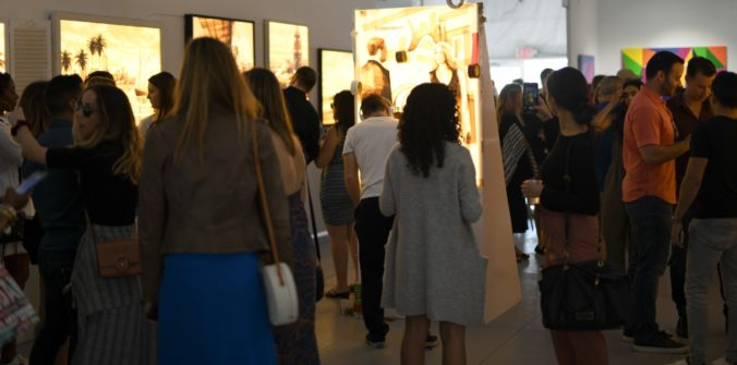 Art Basel Miami - Max Zorn with Stick Together Gallery at their busy and sold out booth