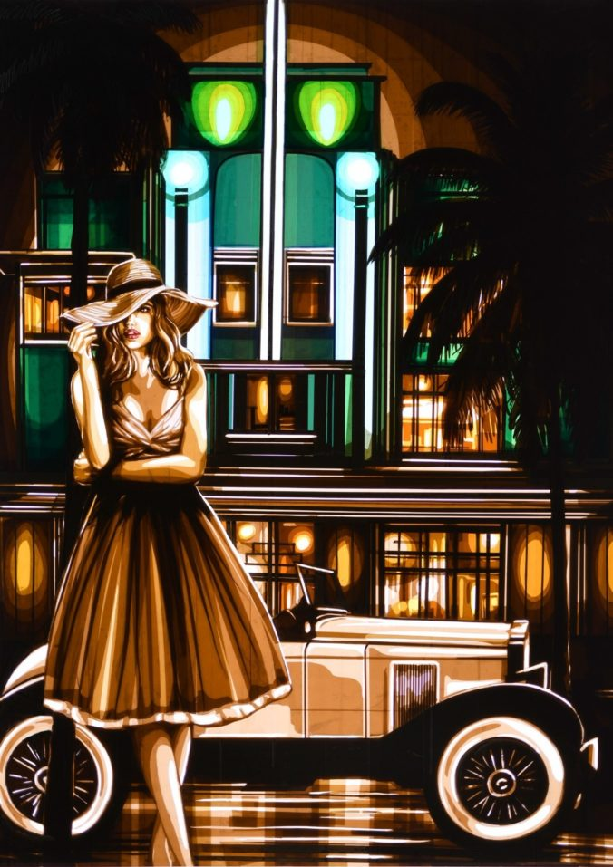 South Beach Nights - A special sale artwork by Max Zorn