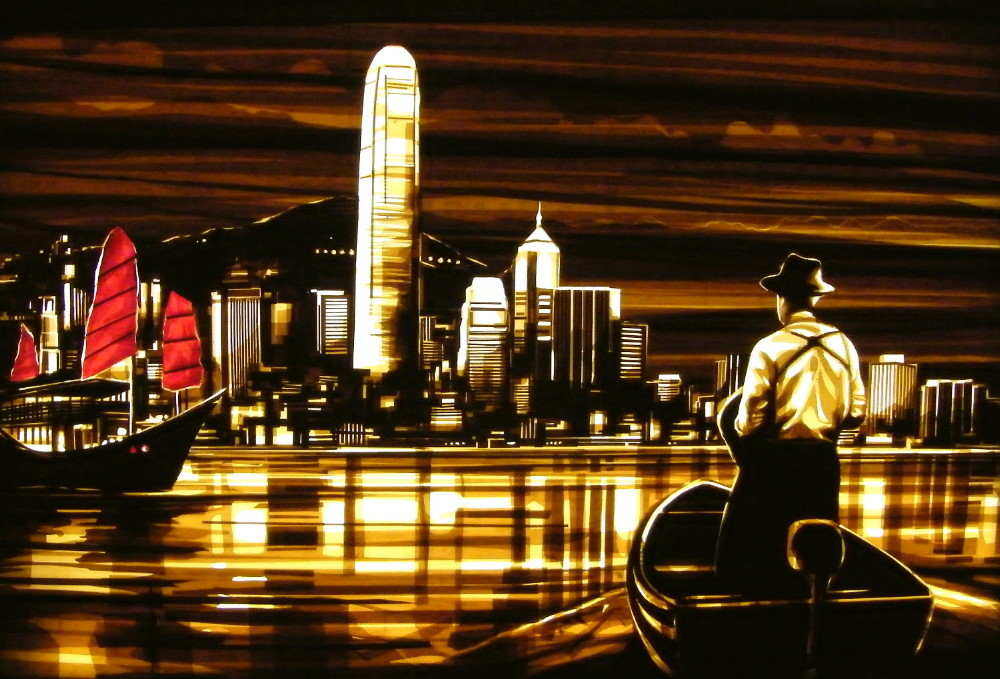 Tape art by Max Zorn - Hong Kong Arrival