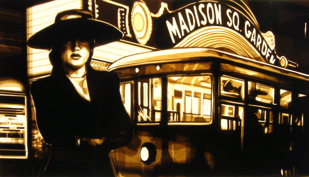Tape art by Max Zorn - New York Noir