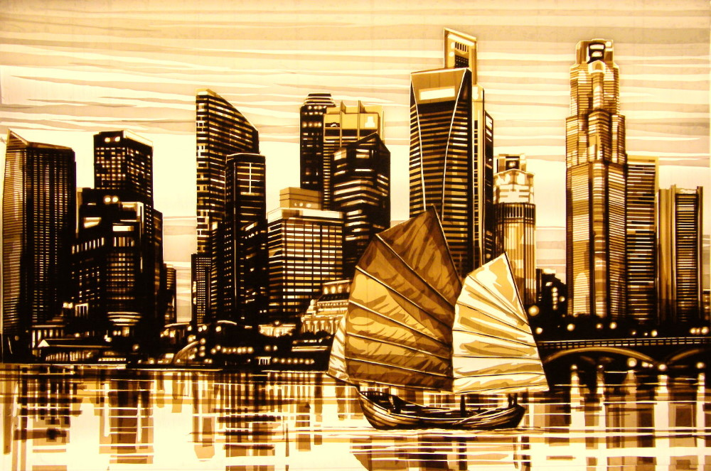 Tape art by Max Zorn - Singapore