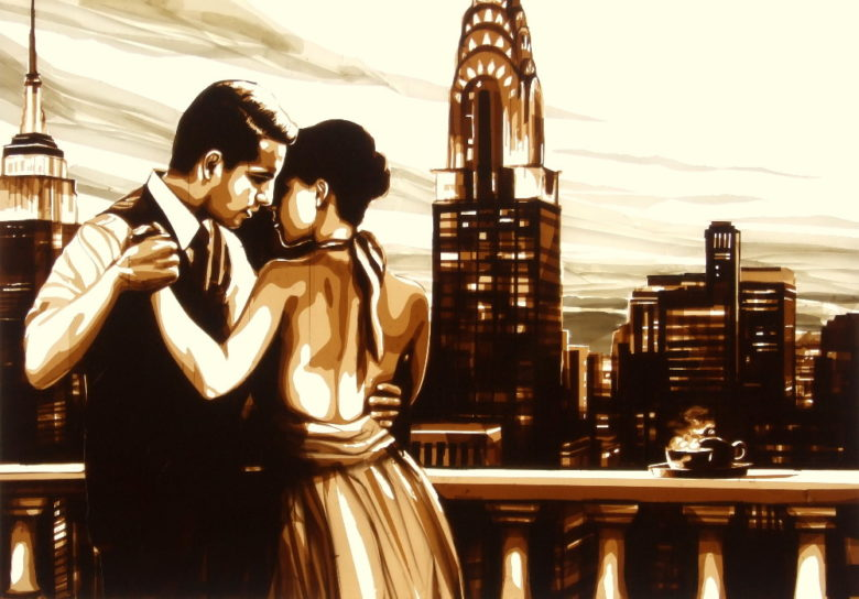 Tape art by Max Zorn - Tango New York