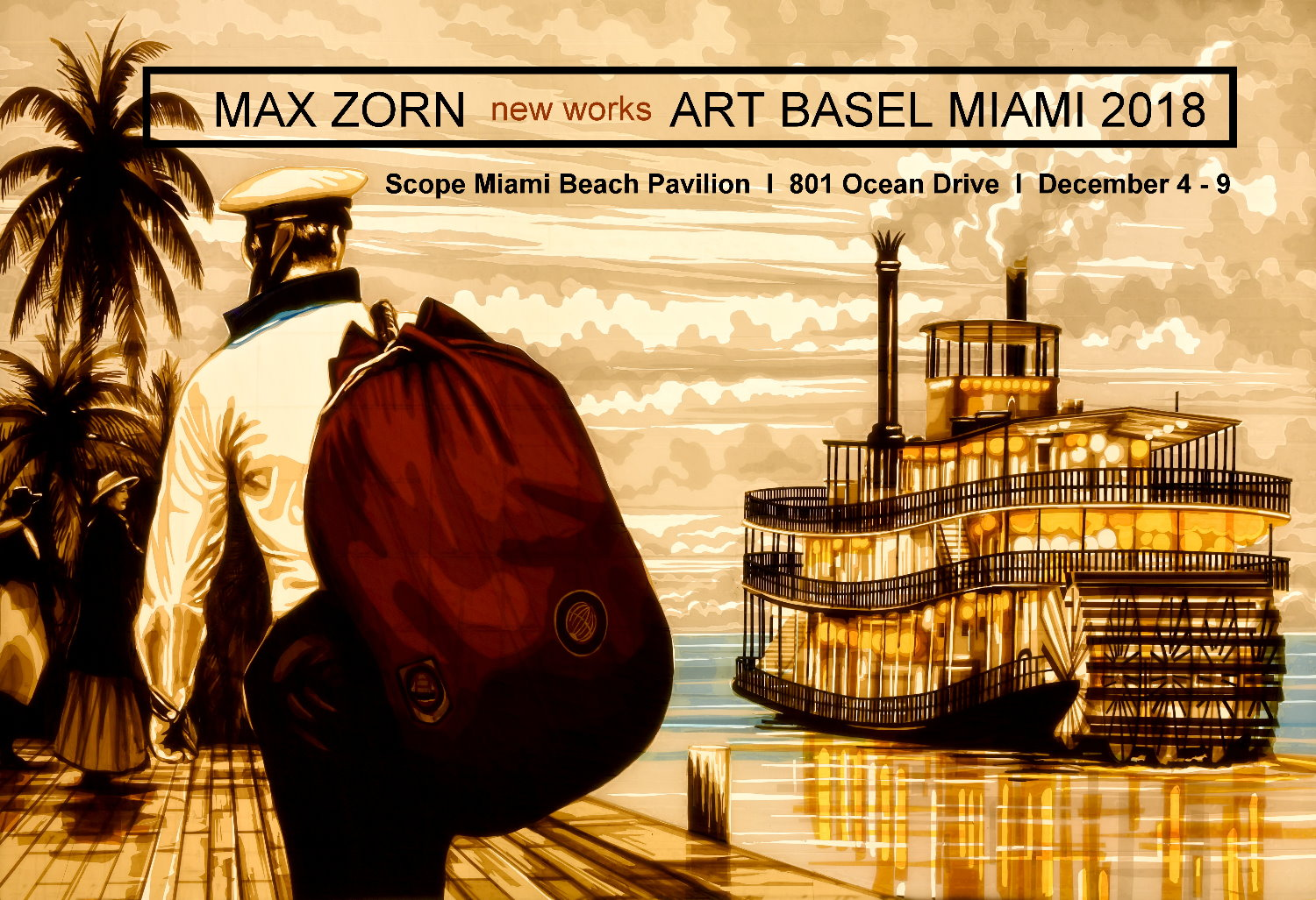 Tape Artist Max Zorn will be showing new tape artworks at Scope Miami Beach during the ArtBasel week. Tape Art, Klebeband, Kunst, Art, contemporary art